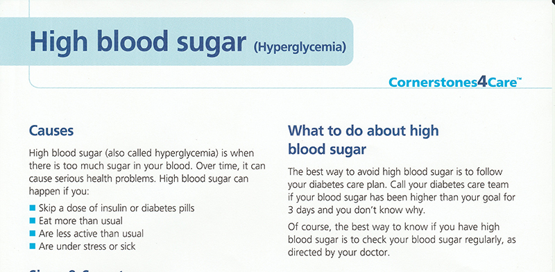 High and Low Blood Sugar